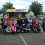 Blue Dot employees with ice cream truck